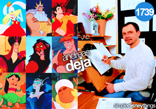 simpledisneythings:  Andreas Deja is a personal favorite of mine because he's created some of the best villains Disney has ever seen.  I love his unique style and iconic character design.