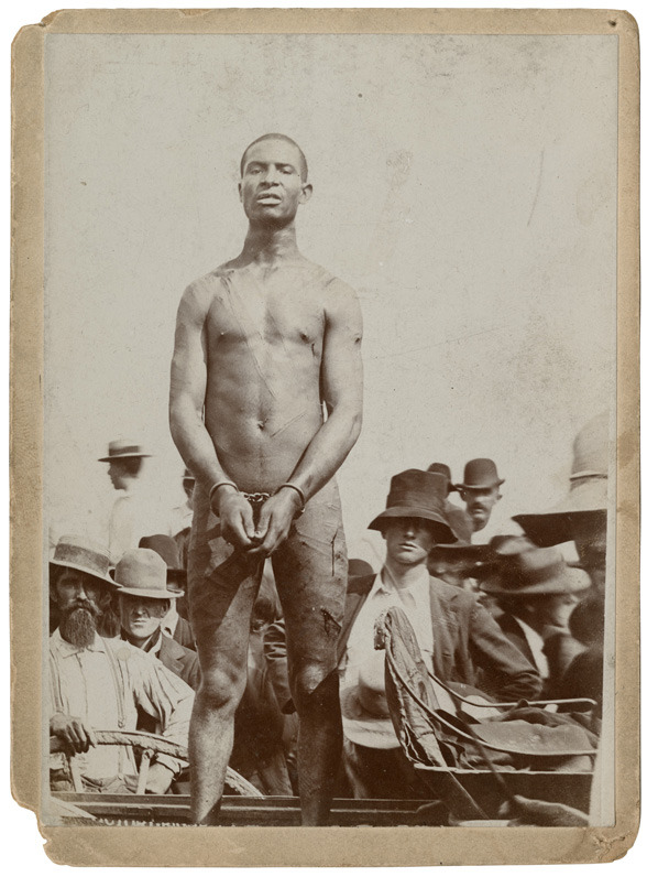 This is Frank Embree, a man who was lynched in the South in 1899..