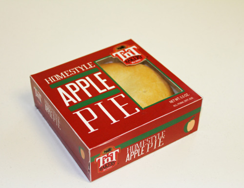 TnT Bakery packaging concept. I did a full line of 5 different pies, different color bands for the different flavors.