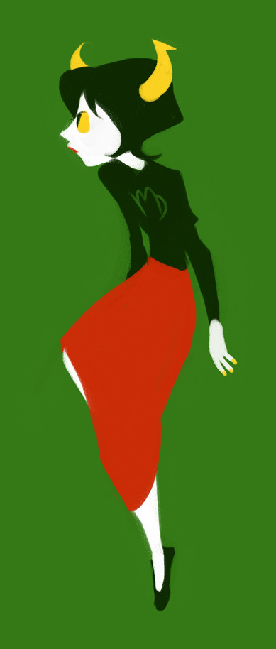 schmemy:  Kanaya's hot and stuff so here's a doodle