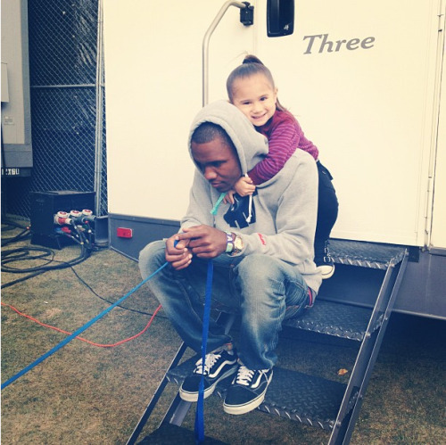 Frank and Chloe Kelly (Odd Future Manager's Daughter). Frank looks like he would make a good dad