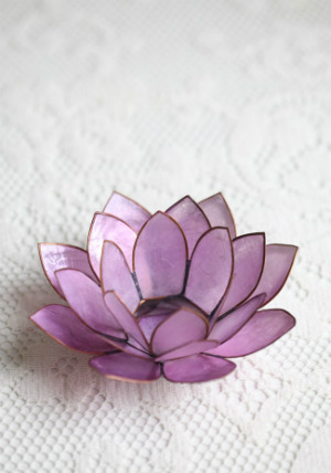 Lavender Lotus Tealight Holder @ Ruche from: First Fashion, Then Bridal, Now Home Decor? Why I Love Ruche (And You Should Too.)