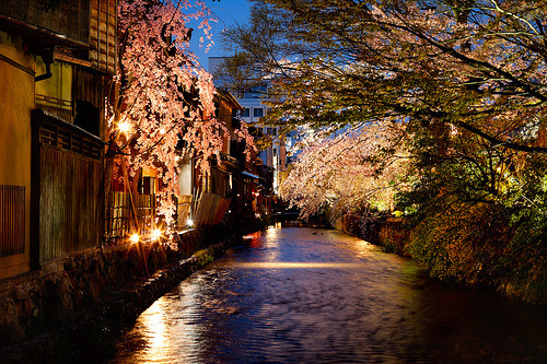 robot-heart:  River in Gion (by phitar)