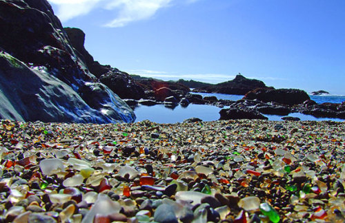 sea glass beach in Cali!