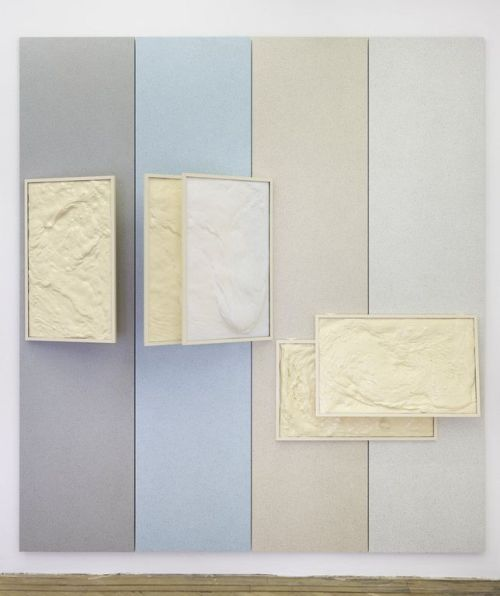 mrkiki:  Nicolas DeshayesPublic Material. 2011Public Amenity panelling, vacuum formed plastic, powder coated aluminum and neoprene foam255 x 230 x 30 cm  VIA