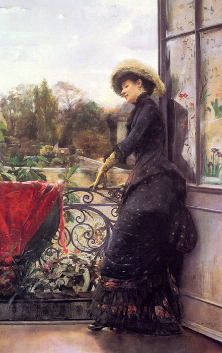 fripperiesandfobs:  On the Terrace Julius LeBlanc Stewart 1884