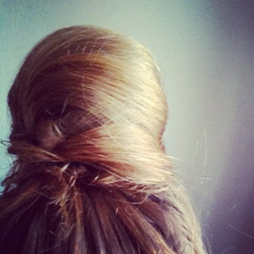 Last #night I dreamt this #hair bun a la Wilma Flintstone was in #fashion #LiveStockholm  (Taken with instagram)