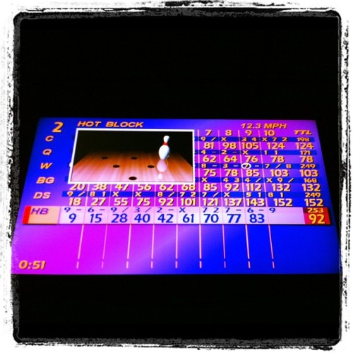 Our last serious game & probably my best bowl everrr. Chode, @kiwi__q, @peteywang, me (#blackgirl), @darkmarc, @hidekincredible. #babies #bowling (Taken with Instagram at Oak Tree Lanes)