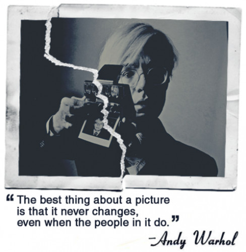 Warhol on photos…