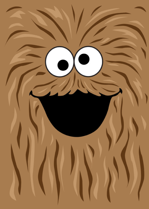 Wookie Monster tiefighters: The most beloved children's television character on all of Kashyyk… Created by mjcowan