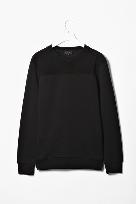 COS - Suede Panel Sweatshirt