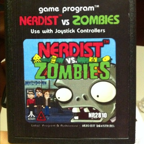 kaitis:  Nerdist vs. Zombies the video game? via Jonah Ray on Instagram.