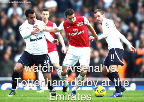 watch a Arsenal vs. Tottenham derby at the Emirates