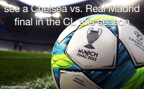 see a Chelsea vs. Real Madrid final in the CL this season