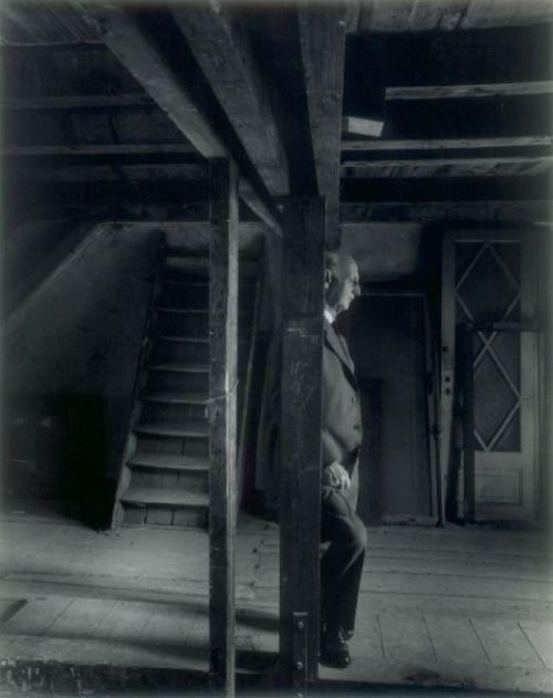 This photo of Otto Frank, take in 1960 in the attic of the annex where he and his family hid during World War 2 is one of the most moving I have ever seen.