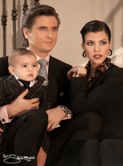 Scott, Kourtney and Mason Disick.