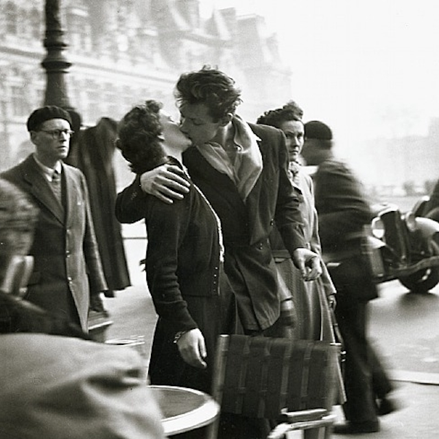 Happy Birthday Robert Doisneau The centenary of French photographer Robert Doisneau, who was born April 14, 1912, is being celebrated with a Google Doodle.  Pictured is his most famous photograph, Le Baiser, which shows a young Parisian couple kissing, quite oblivious to their hectic surroundings.