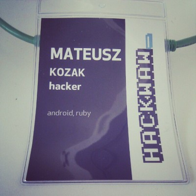 They named me hacker :-) #hackwaw (Taken with Instagram at BL AIP / Zebra)