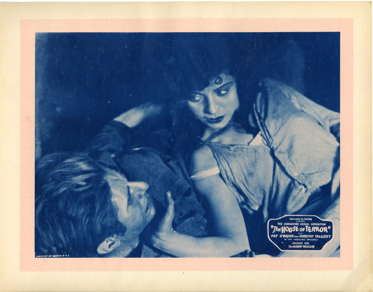 The House of Terror, Episode 10: The Hidden Treasure, US lobby card. 1928
