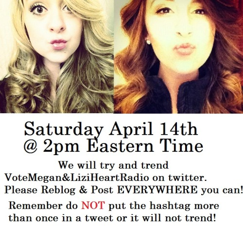 lovingmeganandliz:  Today is the day!