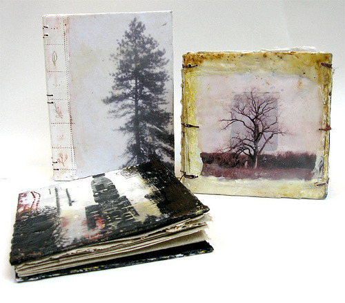 Encaustic Journals by Bridgette Guerzon Mills