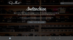 Instarchive, by Recollect »  There's been a lot of talk about Instagram lately. We're pretty sure the sky isn't falling, but you should always have a backup, so we built this little tool for you. […] It's called Instarchive, sign into your Instagram account and we'll send your photos down to your computer in a convenient zip file. It's quick and easy, we hope you like it.  via daringfireball.net