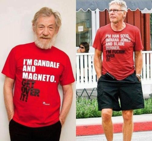 wide-eyed-rox:  Ian McKellen and Harrison Ford are officially awesome—as if they weren't before.