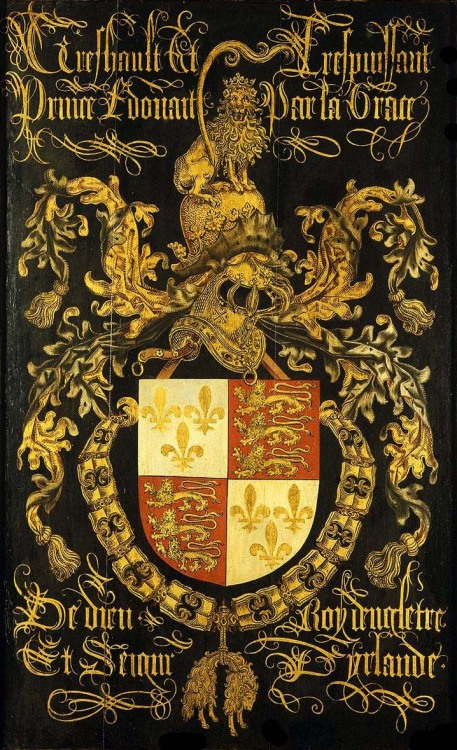 speciesbarocus:  Shield of Edward IV in his capacity as knight of the Order of the Golden Fleece (c. 1481).