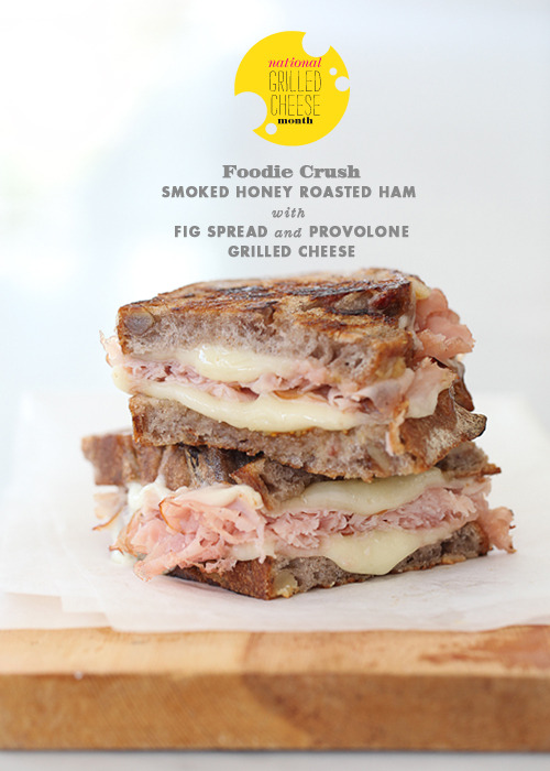 gastrogirl:  honey smoked ham with fig spread grilled cheese.