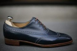 John Lobb Westminster Blue Calf By Request Saint-Germain store Paris
