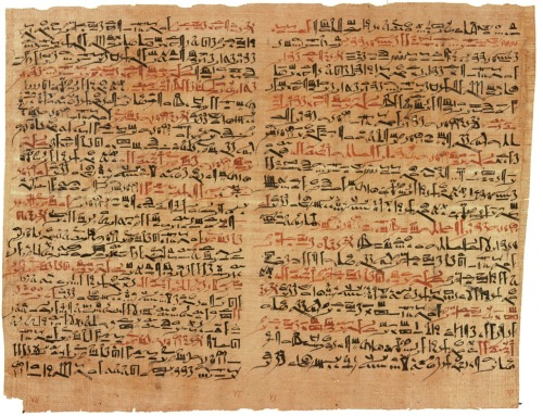 historiai:  Le papyrus chirurgical Edwin Smith (XVIe siècle avant notre ère) écrit en hiératique et décrivant l'anatomie du corps humain et des traitements - The Edwin Smith Surgical Papyrus (sixteenth century BC) written in hieratic and describing the human anatomy and treatment