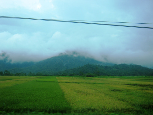 On the way to Sta. Ana, Cagayan. It's views like this that remind me of how small we people are, and how beautiful this world is. :)