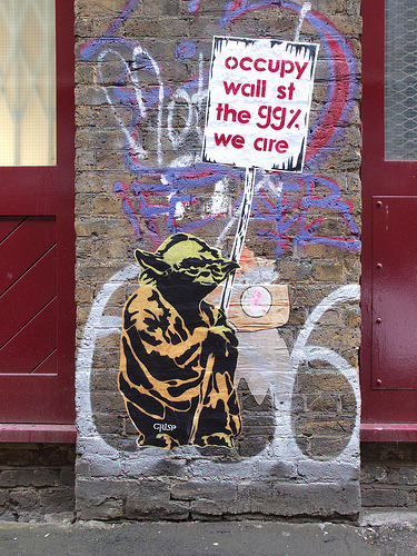 paxmachina:  Crisp - Yoda The 99%  (London)