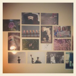 The photo collage on my uni room wall. (Taken with instagram)
