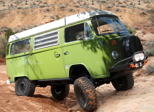 VW T2 Camper going off road…
