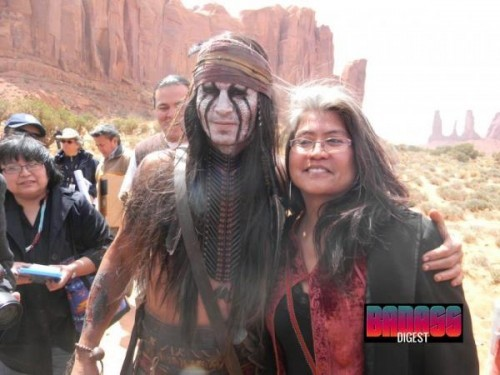 "DISNEY'S ""LONE RANGER"" IN PRODUCTION Above is a picture of Johnny Depp in costume for his role of Tonto in Walt Disney Pictures adaptation of ""The Lone Ranger"". After being on the shelf for a while and concerns over budget restrictionsthe movie has finally started filming. It's currently being shot in New Mexico and features a cast of incredible actors such as Armie Hammer, Helena Bonham Carter,Barry Pepper, Tom Wilkinson, James Frain and Ruth Wilson. There's no word on a release date yet."