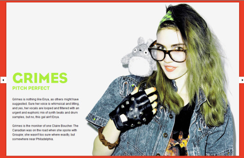 Grimes on pages digital