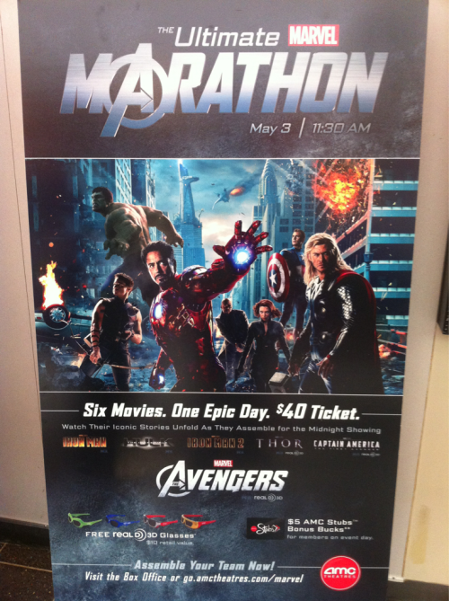 Marvel Marathon at AMC!
