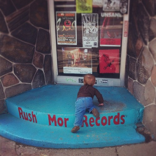 Perhaps the only record store she'll ever visit. (Taken with Instagram at Rush-Mor Records)