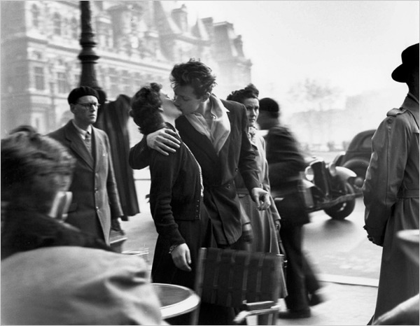 Happy 100th Birthday, Robert Doisneau! The classic, of course, The Kiss.
