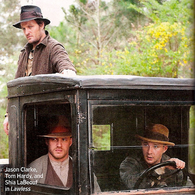 charlidos:  Just because I simply can't get enough tidbits about Lawless - here's a better scan from Entertainment Weekly, thanks to Indiewire. Tom looks so amazingly pouty, it's absolutely adorable. Will we survive this film, I do wonder.   Oh, I will not be able to handle him in this role. The sexy is overwhelming.