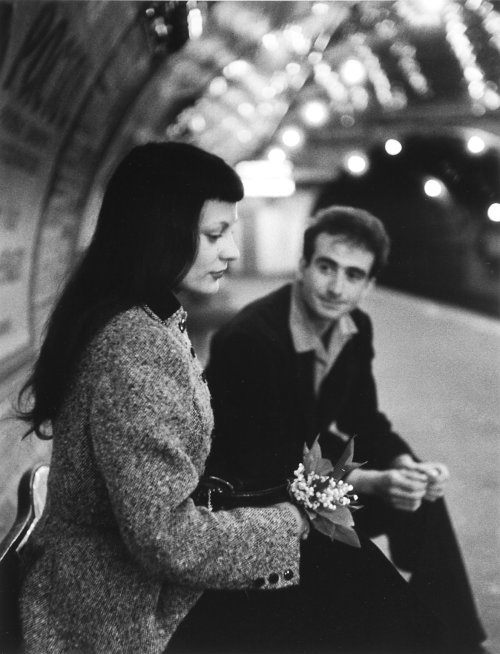 "© Robert Doisneau, 1953, Le Muguet du Métro ""A photographer who made a picture from a splendid moment, an accidental pose of someone or a beautiful scenery, is the finder of a treasure."" (Robert Doisneau - in the Dutch Photomagazine ""Foto"" April 1983) Thank you for so many beautiful treasures Mr. Doisneau! Today would have been his 100th birthday - if you haven't seen it already, also Google celebrates this day:  » find more of Magnum Photos here «"