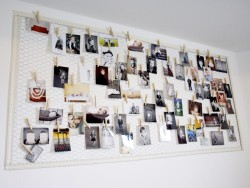 luxuryd3sign:  DIY chicken wire photo display