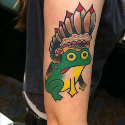 Ran into @stephanieawhite at the #chicago #tattoo convention. I did this one back in November at @timbecktattoos shop in Peoria.  (Taken with Instagram at Crowne Plaza Hotel & Conference Center)