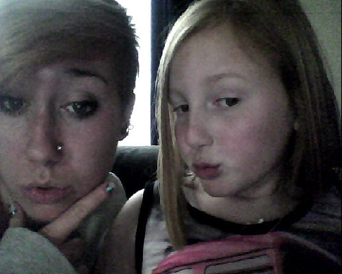 me (on the right) and my sister (sian) pretending to be bratz… well i was :p