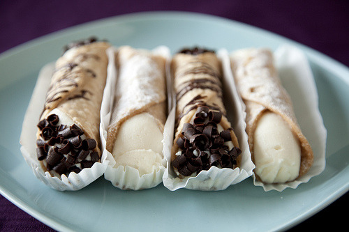 cannoli is easily my favorite dessert  but I definitely don't get to eat it enough