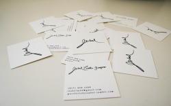 My Bussiness Card (2012) Letterpress. Printed on Kallemeyn Press (Greenpoint, Broocklyng, NY)