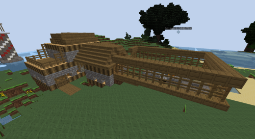 My house on my server :) Me and Amy designed it! I quite like the look of it in this texture pack :D