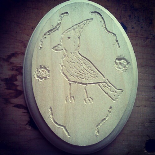 Bird's been put. Now I need paint. (Taken with instagram)