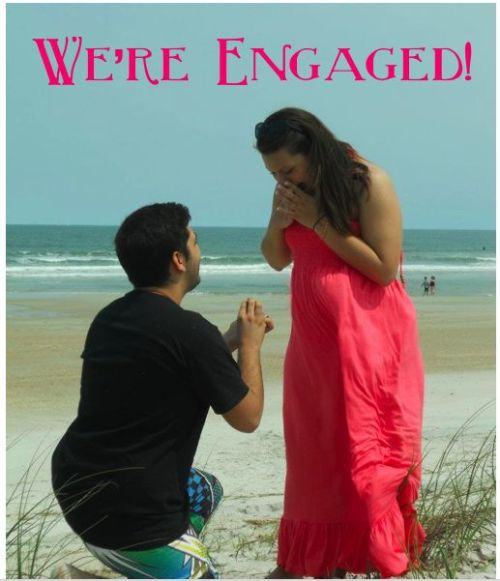 alwaysbridesmaid:  Adrian proposed to me on Easter (4.8.12) and I said yes! Check out our wedding website and our proposal video (here & here).